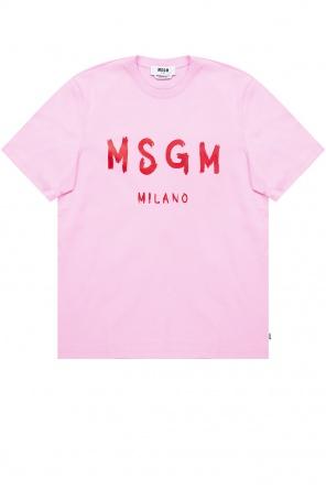 图案饰t恤 od MSGM