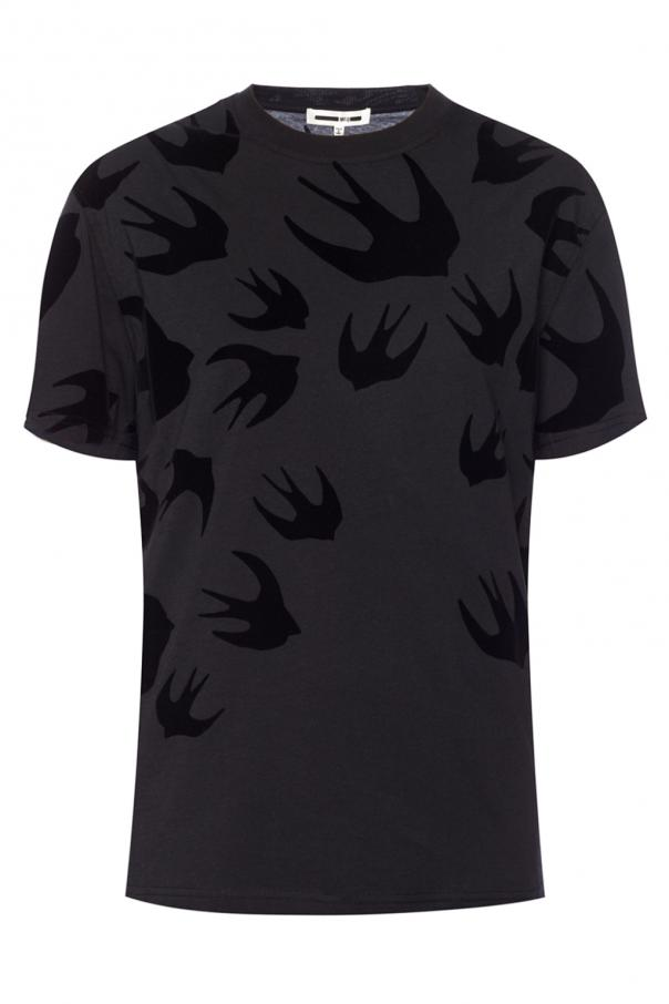 MCQ T-shirt with a swallow motif
