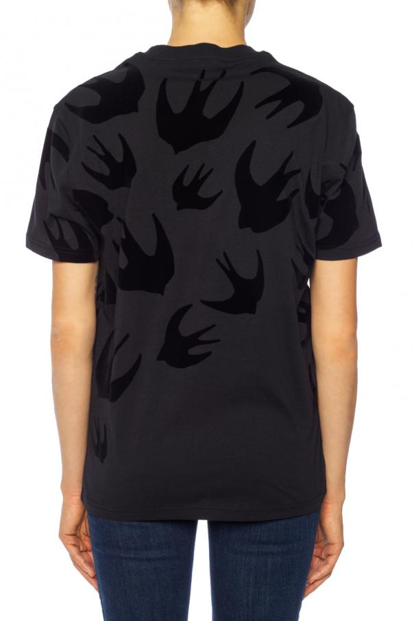T-shirt with a swallow motif od McQ Alexander McQueen
