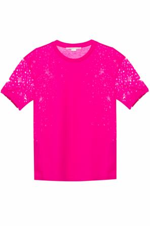 T-shirt with cut-out stars od Stella McCartney