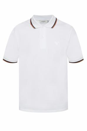 Polo with a sewn-on application od Coach
