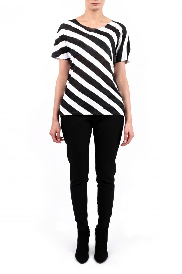 T-shirt z paskiem od Saint Laurent Paris