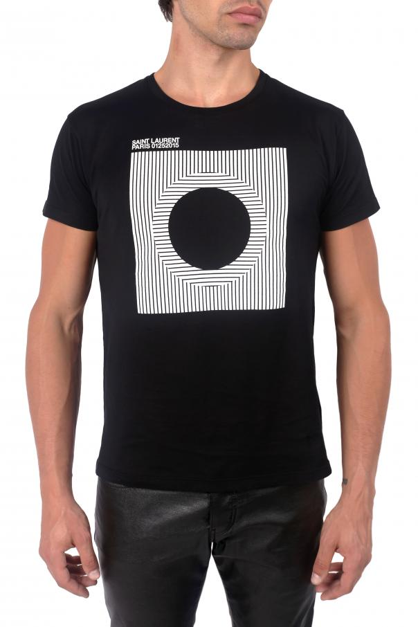 T-shirt z logo od Saint Laurent Paris
