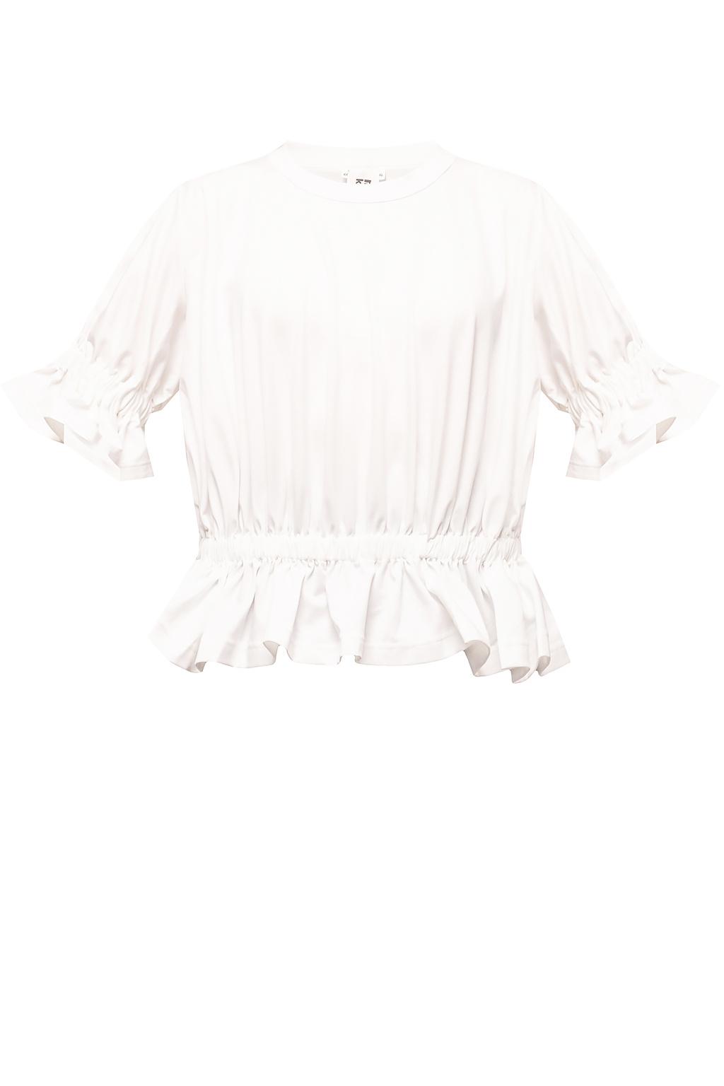 Comme des Garcons Ninomiya Ruffled T-shirt