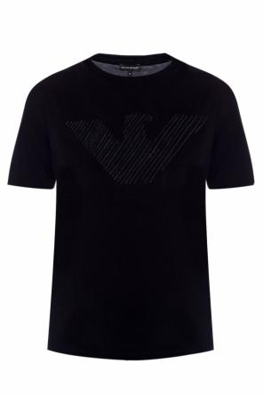 Logo-embroidered t-shirt od Emporio Armani