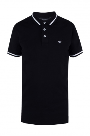 Logo-embroidered polo od Emporio Armani
