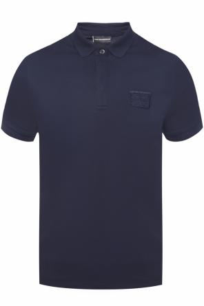 Polo with patch and logo od Emporio Armani