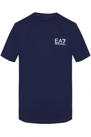 T-shirt with printed logo od EA7 Emporio Armani