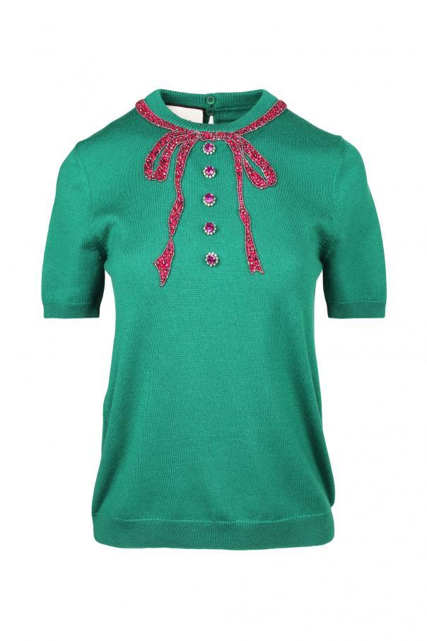 e17c13f2237 Bow Applique Sweater Gucci - Vitkac shop online
