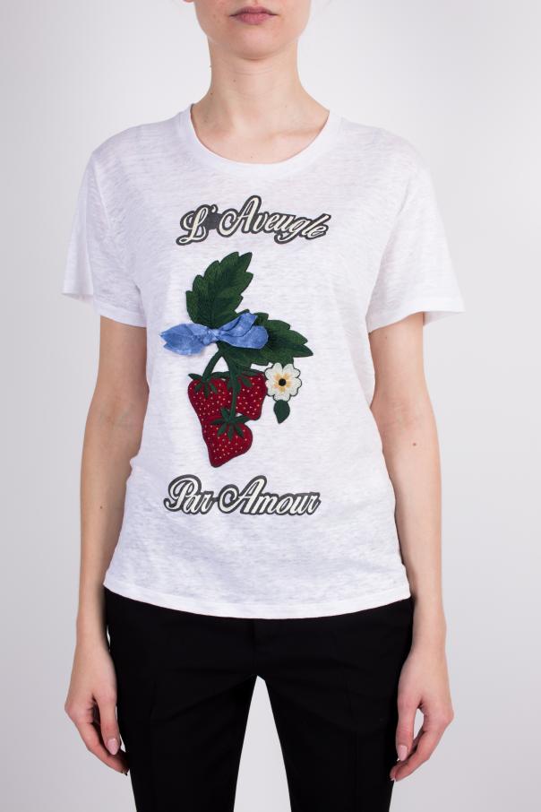 273f66dcb43 Applique Linen T-Shirt Gucci - Vitkac shop online