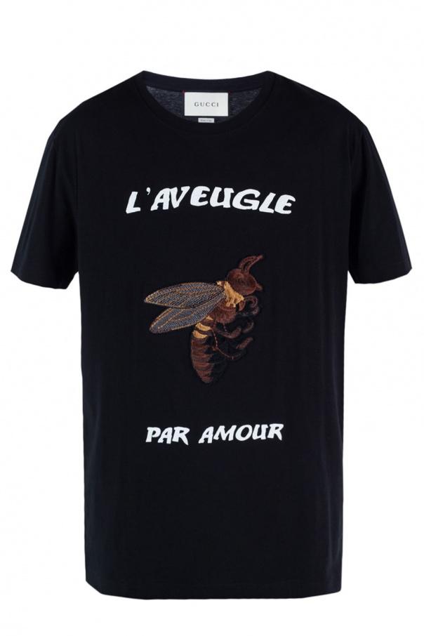 271bcffec Embroidered T-shirt Gucci - Vitkac shop online