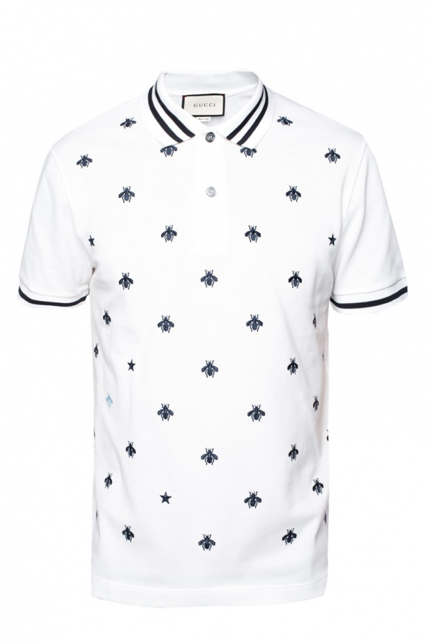 6f23cb45d4b Embroidered bees polo Gucci - Vitkac shop online