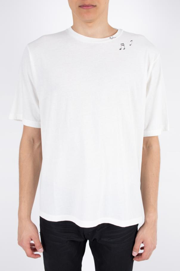 T-shirt z nadrukiem od Saint Laurent