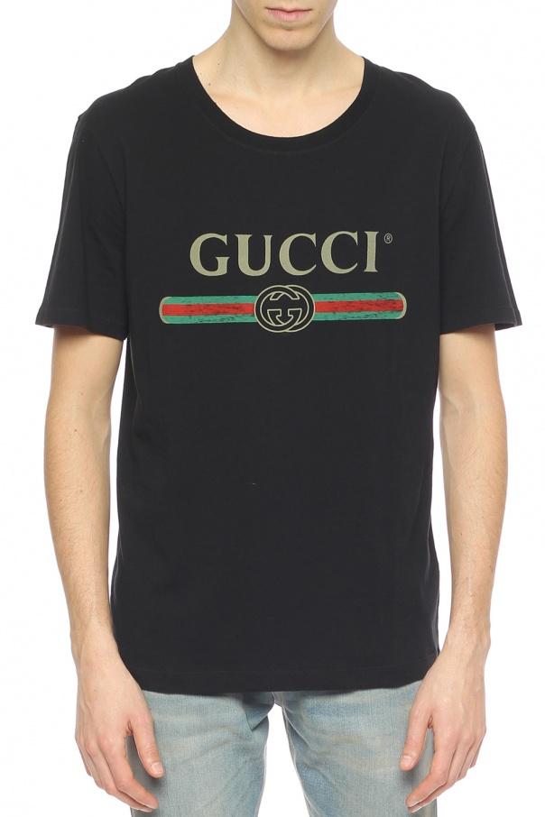 newest 19e1e da061 Logo-printed T-shirt Gucci - Vitkac shop online