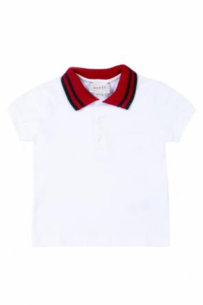Cotton polo od Gucci Kids