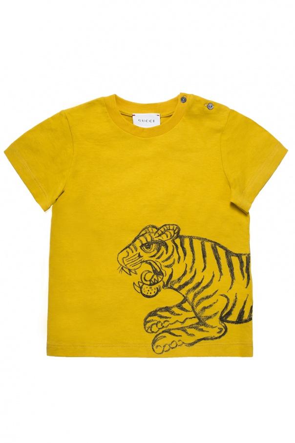 1baf1e39d2b7 Tiger-printed T-shirt Gucci Kids - Vitkac shop online