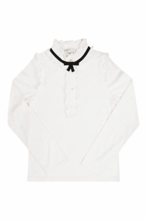 T-shirt with ruffles od Gucci Kids