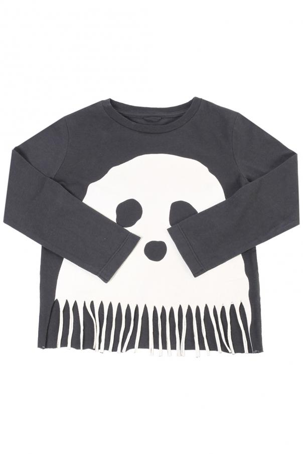Printed t-shirt with fringes od Stella McCartney Kids