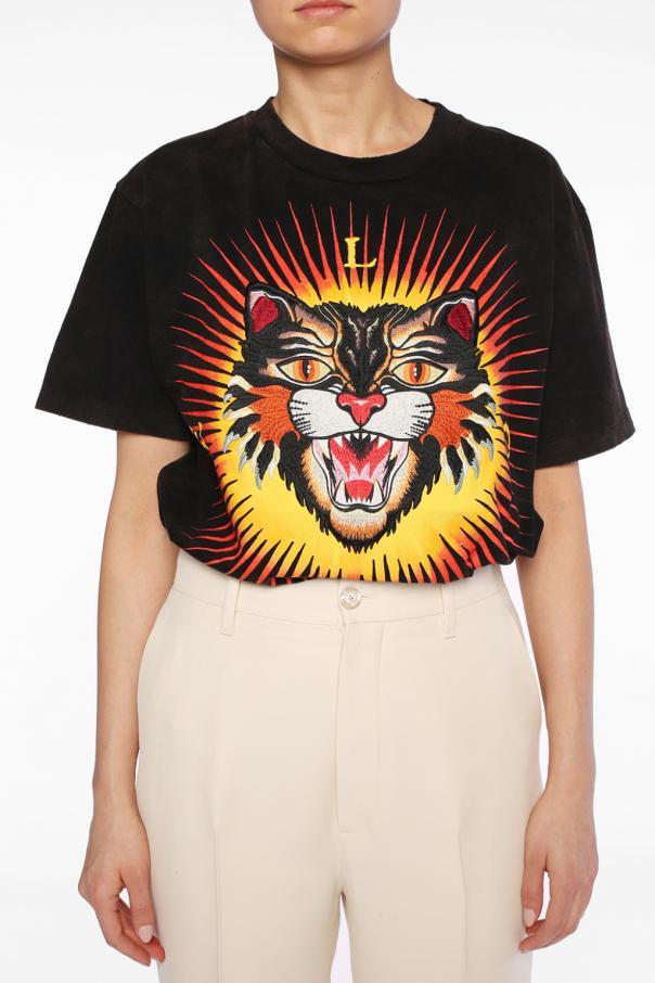 ac43efa1cf1 Tiger head motif t-shirt Gucci - Vitkac shop online