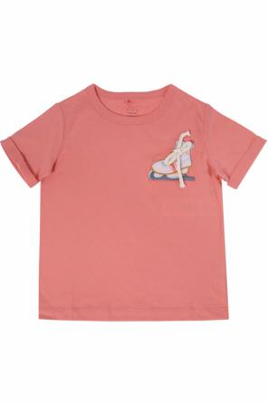 Ice skate-patched t-shirt od Stella McCartney Kids