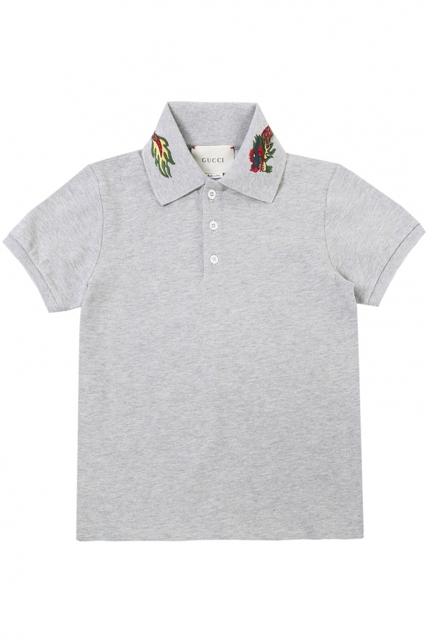 3432b386 Embroidered collar polo Gucci Kids - Vitkac shop online