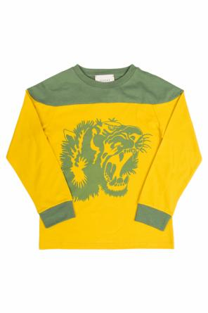 T-shirt with long sleeves od Gucci Kids
