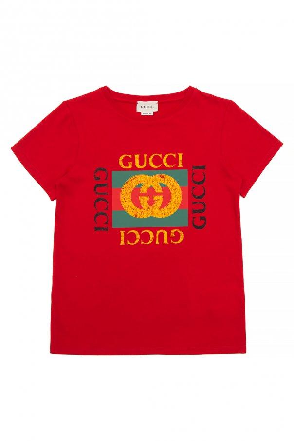 Gucci Kids Branded T-shirt