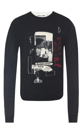 Embroidered inscription sweater od McQ Alexander McQueen