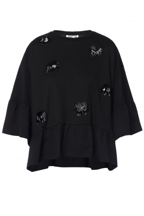 Sequinned appliqué top od McQ Alexander McQueen