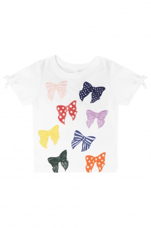 T-shirt with lace-up hems od Stella McCartney Kids