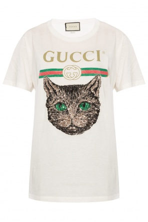 Sequinned t-shirt od Gucci