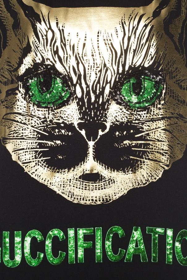 8acaaaa44c77 Mystic Cat' T-shirt Gucci - Vitkac shop online