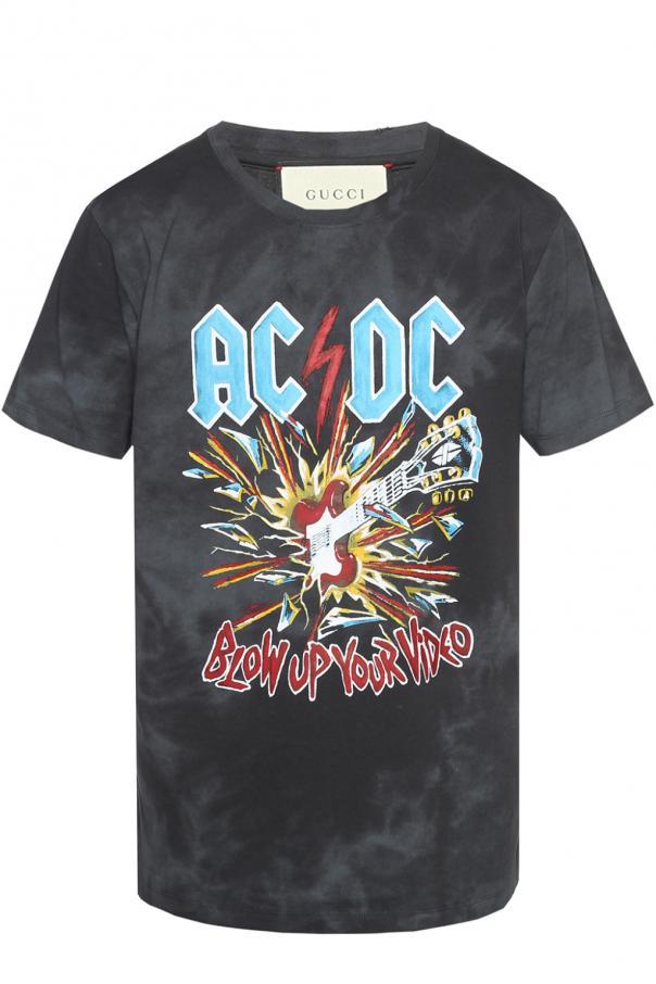 19f28c5bb AC/DC' printed T-shirt Gucci - Vitkac shop online