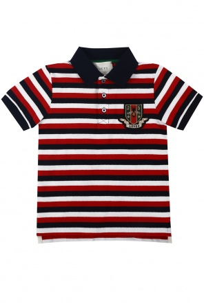 Striped polo od Gucci Kids