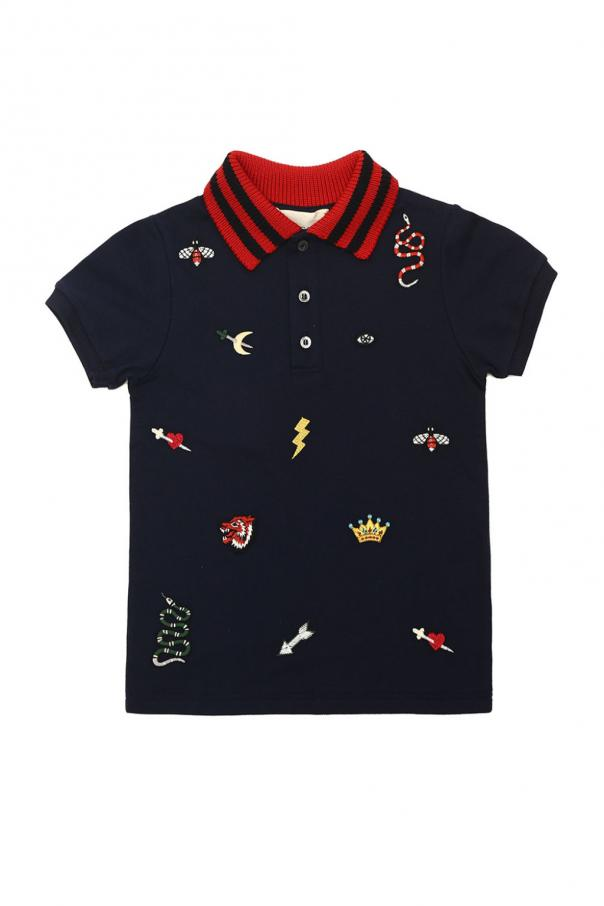 a973f9372 Embroidered polo Gucci Kids - Vitkac shop online