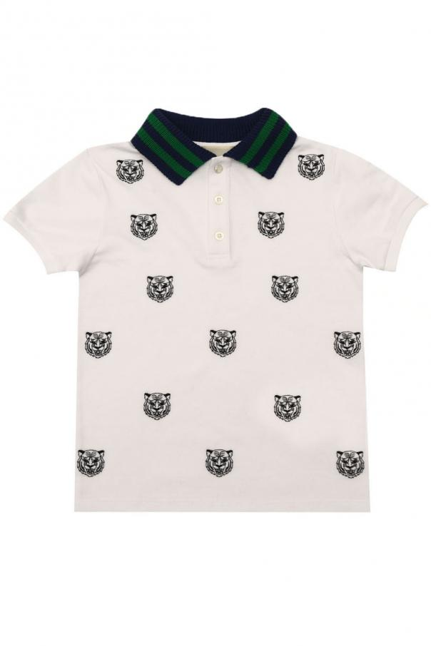00372fe7 Embroidered polo Gucci Kids - Vitkac shop online