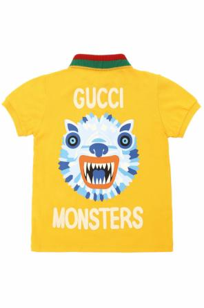 Printed polo od Gucci Kids
