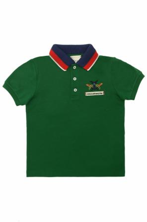 Logo-embroidered polo od Gucci Kids