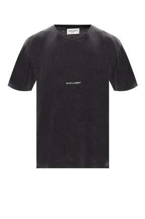 T-shirt with time-worn effects od Saint Laurent