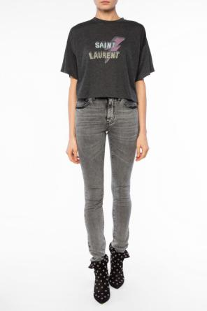 Cropped oversize t-shirt od Saint Laurent