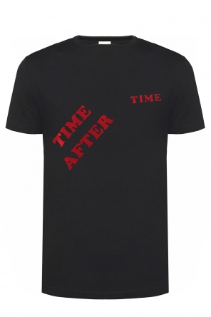 T-shirt with velvet lettering od Saint Laurent
