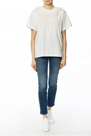 Ostrich feather t-shirt od Christopher Kane