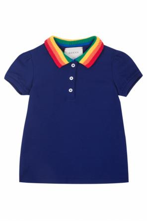 Patched polo od Gucci Kids
