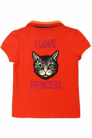 56f0de73f8f Feline motif polo od Gucci Kids ...
