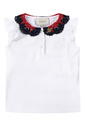 Lace collar top od Gucci Kids