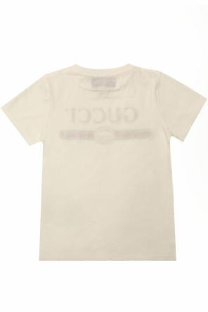 Logo t-shirt od Gucci Kids