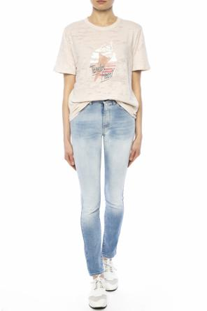 Printed sheer t-shirt od Saint Laurent