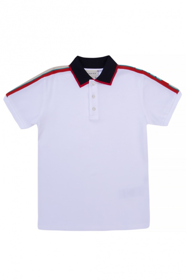 32e5656a Polo with embroidered logo Gucci Kids - Vitkac shop online