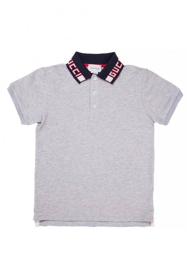 Gucci Kids Polo with embroidered logo
