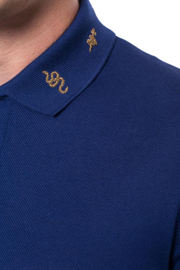 Embroidered polo od Gucci